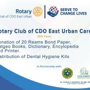 Rotary Club of CDO East Urban Cares – 2021